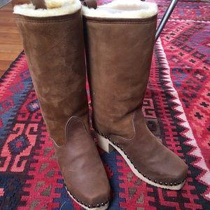 Shearling Clog Boots 39